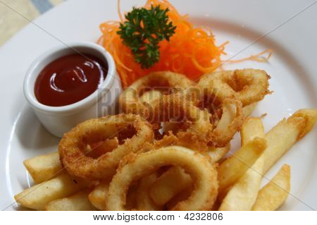 Calamari And Chips Meal