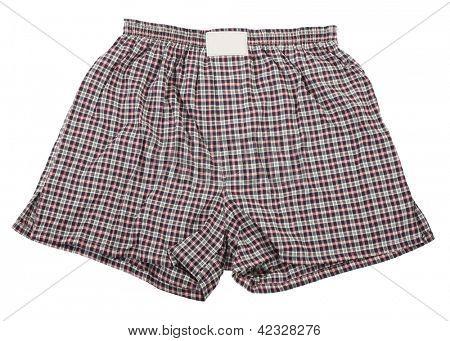 Plaid boxer shorts underwear