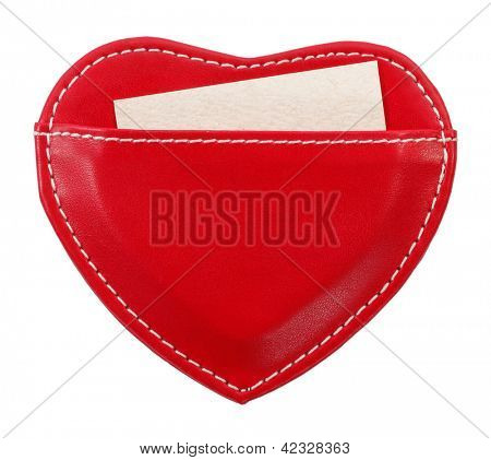 Love message holder heart shaped with paper note