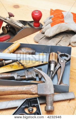Tool Tray With Assorted Tools