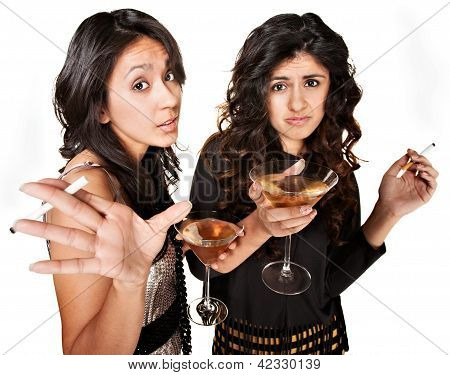 Young Drinking Girls