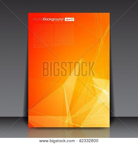 Orange Abstract Lines Flyer Template for You | EPS10 Background