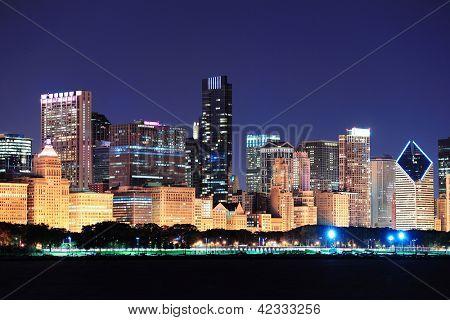Chicago night view