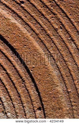 Rusty Blatthintergrund Metall