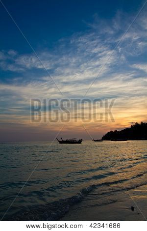 Sunset On A Thai Beach