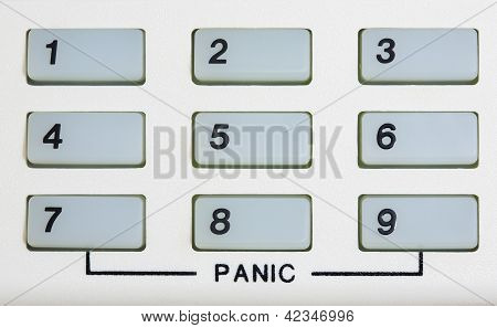Number Keypad With Panic