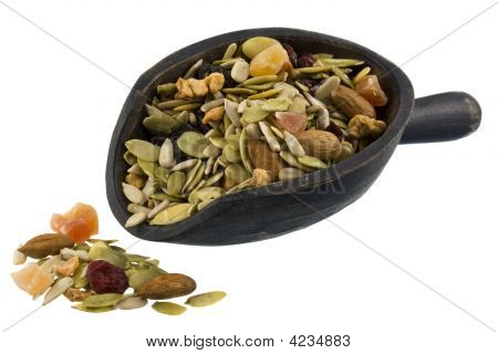 Pile And Scoop Of Healthy Trail Mix