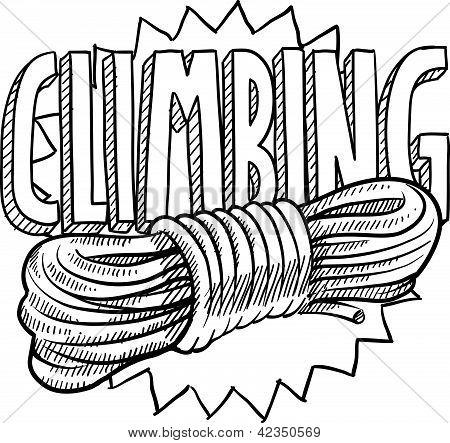 Mountain climbing sketch