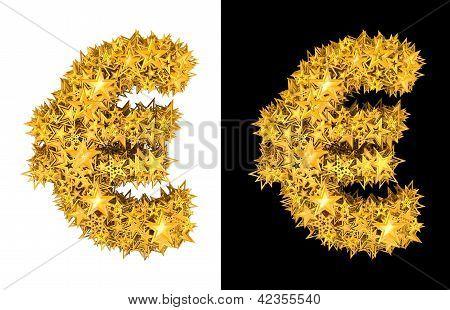 Euro oro brillantes estrellas