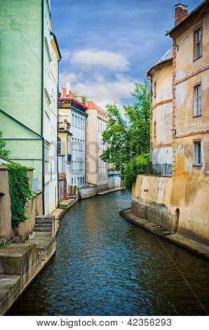 Water Canal In Prague