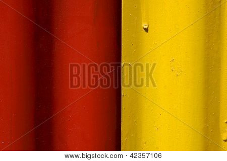 Abstract Colored Red And Yellow Iron Metal