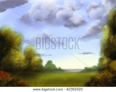 Outdoor Scene - Digital Painting