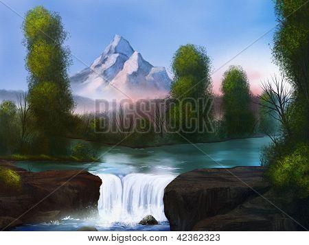 Riverside - Digital Landscape Painting