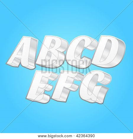 3d Alphabets Fonts