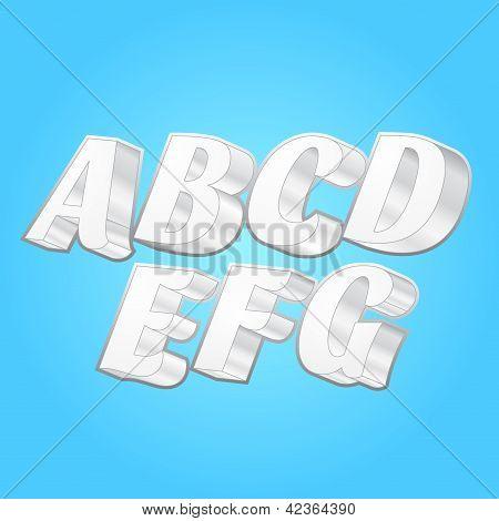 3d Alphabets Fonts