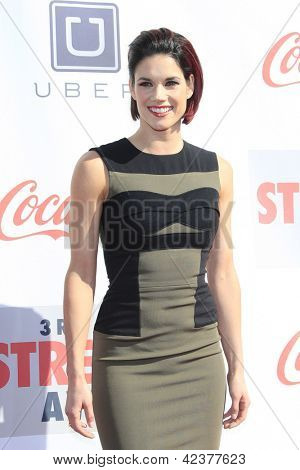 LOS ANGELES - FEB 17: Missy Peregrym at the 3rd Annual Streamy Awards at the Hollywood Palladium on February 17, 2013 in Los Angeles, California