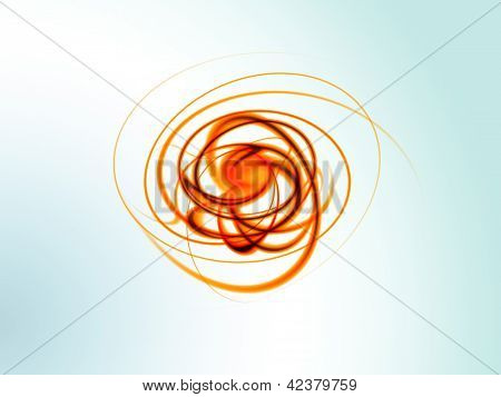 Abstract and color geometry object on blur background