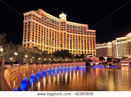 LAS VEGAS - DEC 27: Bellagio Hotel und Kasino am 27. Dezember 2012 in Las Vegas. Nevada Kasino Rück