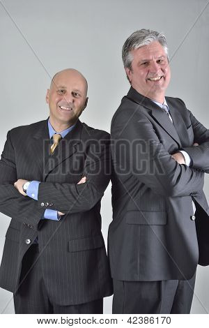 Businessmen concluding negitiations