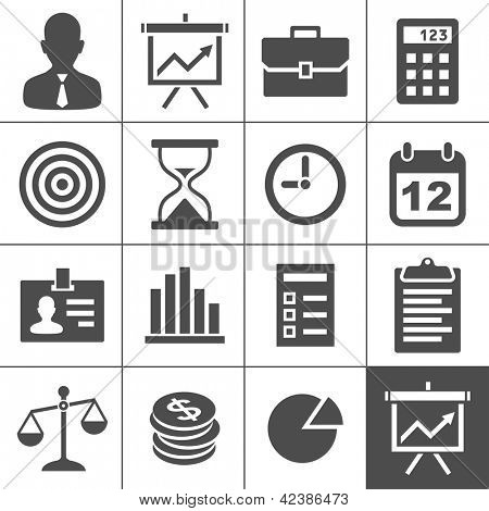 Business Icons. Vector illustration. Simplus series