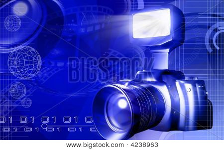 Camera With Flashlight