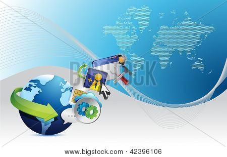 Wereldwijde toepassing