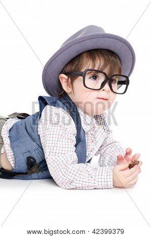 Cute Smart Baby Kid Eating
