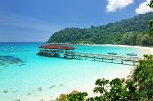 foto of pacific islands  - Beautiful beach at Perhentian islands - JPG