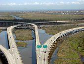 Highway Interchange over Bayou Swamp in Louisiana