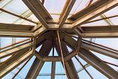image of purlin  - metal structure of the roof of a greenhouse - JPG