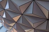foto of geodesic  - The underside of a geodesic dome highlighting the triangular pattern in its construction - JPG