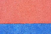 foto of olympic stadium construction  - Texture of color rubber floor on playground - JPG