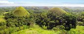 image of chocolate hills  - Picturesque panorama with Chocolate hills - JPG