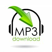 Símbolo de vetor de download de mp3