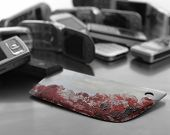 stock photo of serial killer  - Assorted mobile phones with bloody knife weapon - JPG
