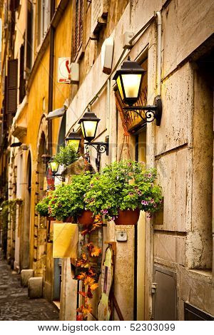 Rome narrow street