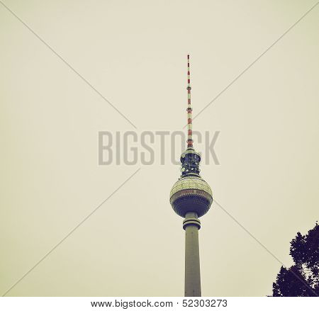 Tv Tower, Berlin Retro Look