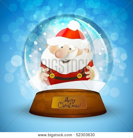 Christmas snow globe with Santa Claus