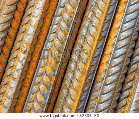 Background Is Made ??of Steel Rebar Rods