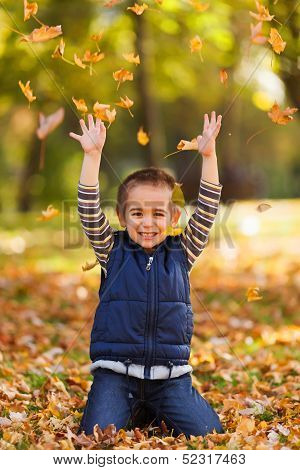 Excited Boy Playing