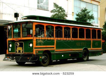 Old Fashioned Log Trolley
