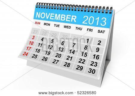 Calendar November 2013