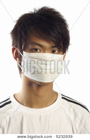 Asian young man with medical mask