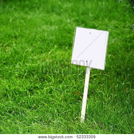 Sing Board On Grass