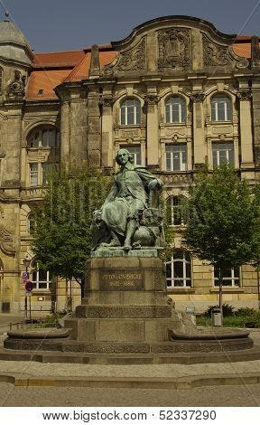 Otto Gvericke Statue, Magdeburg, Germany
