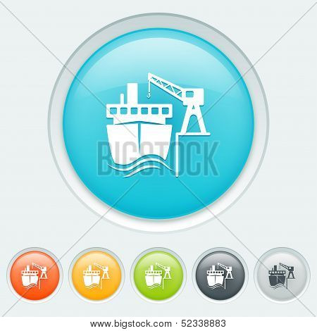 Transport By Water Buttons