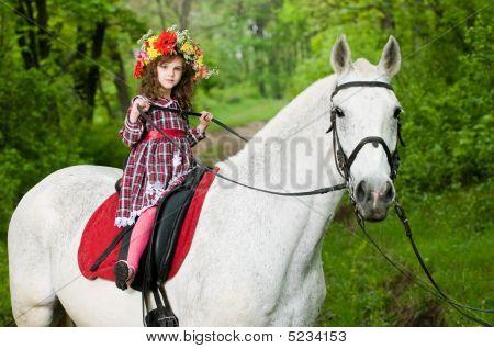 Little Girl In Floral Wreath
