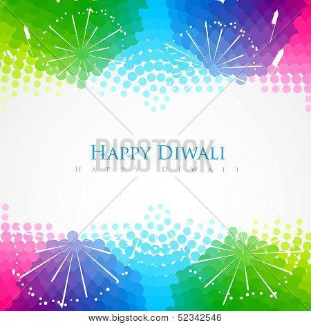 beautiful colorful happy diwali festival greeting