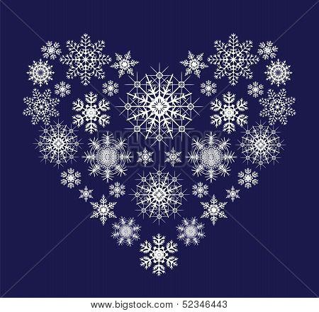 Heart From Snowflackes