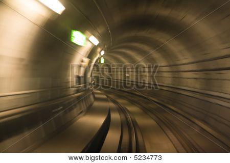 Metro Tunnel, Blurred Motion